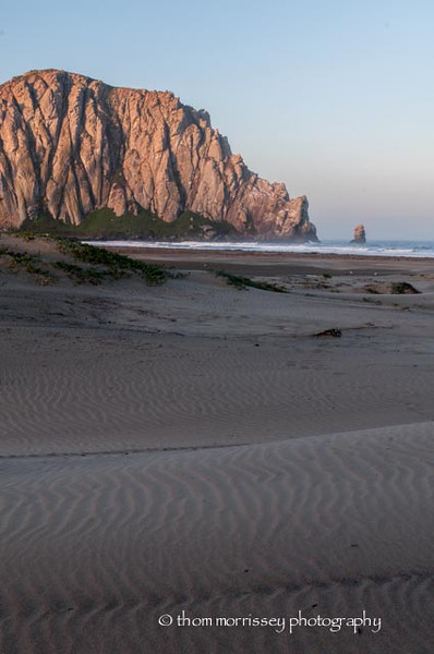 Morro Rock at dawn.