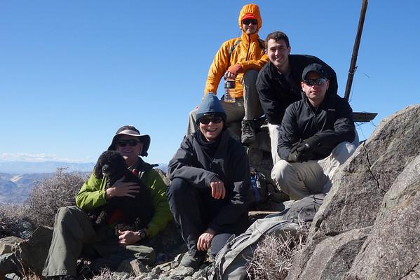 Peak 1,505k (4,938) / Slate (5,060) / Searles Peak (5,093) - Feb 1, 2014