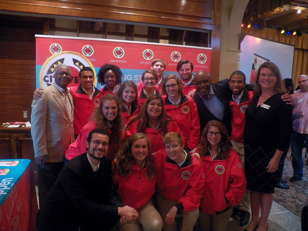 AmeriCorps City Year members in San Antonio, Texas on the 20th Anniversary of AmeriCorps. Corporation for National and Community Service Photo.