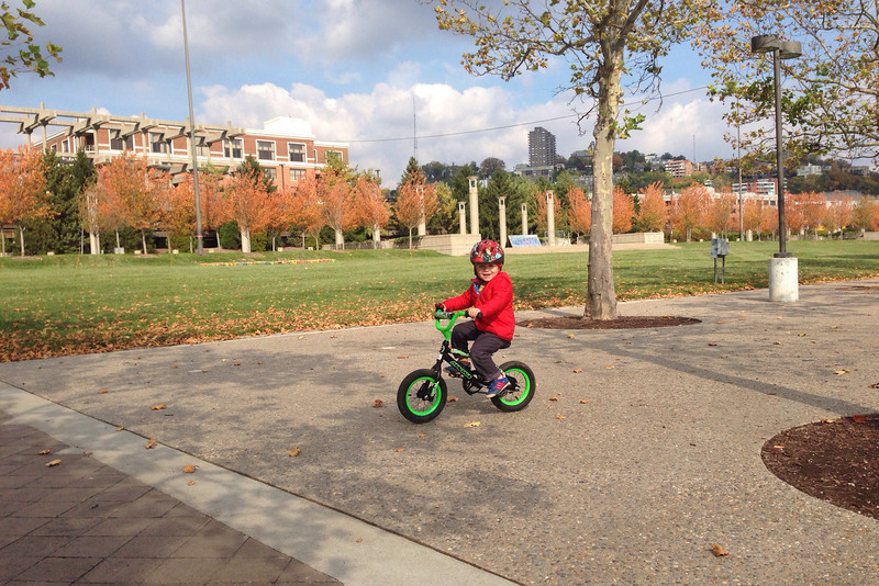 biking at Sawyer Point