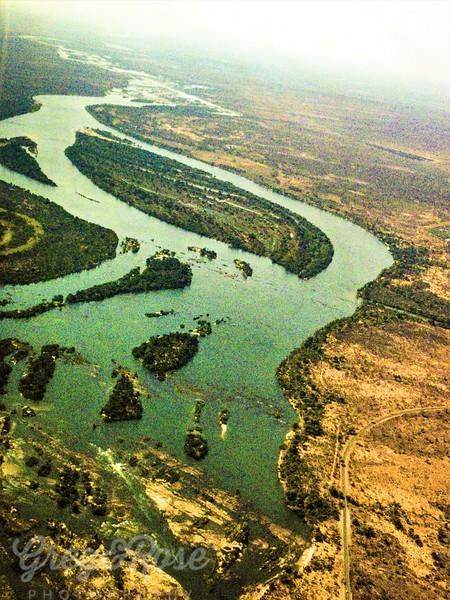 Air shot of the Zambezi Delta