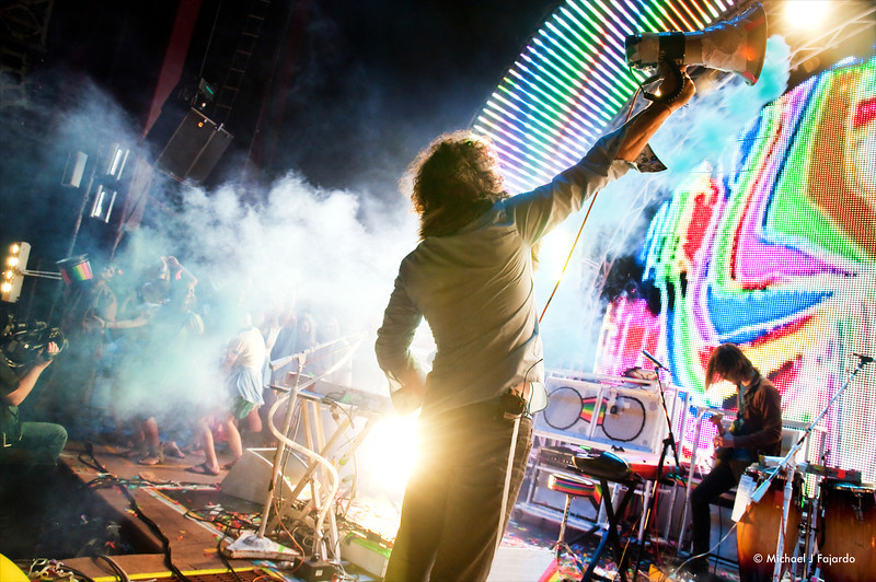 """Wayne Coyne & His Smoking Megaphone The Flaming Lips Performing Pink Floyd's """"The Dark Side of the Moon"""" Red Rocks Amphitheater Morrison, CO August 4, 2011"""