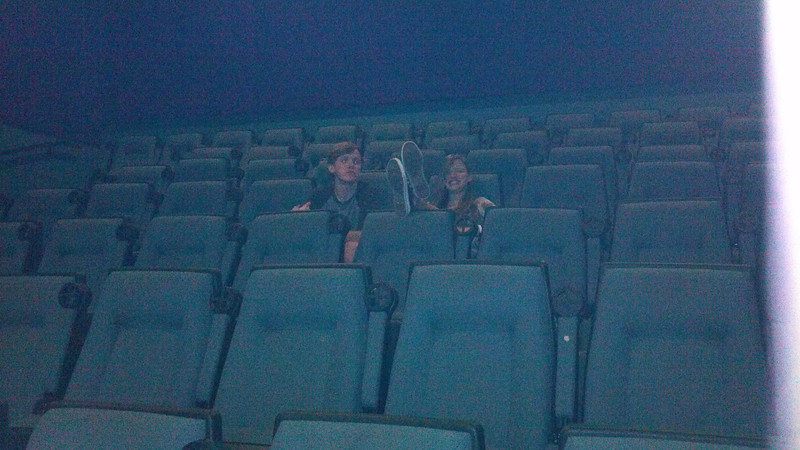 We had to fight to get a seat at the movie theater.  LOL.