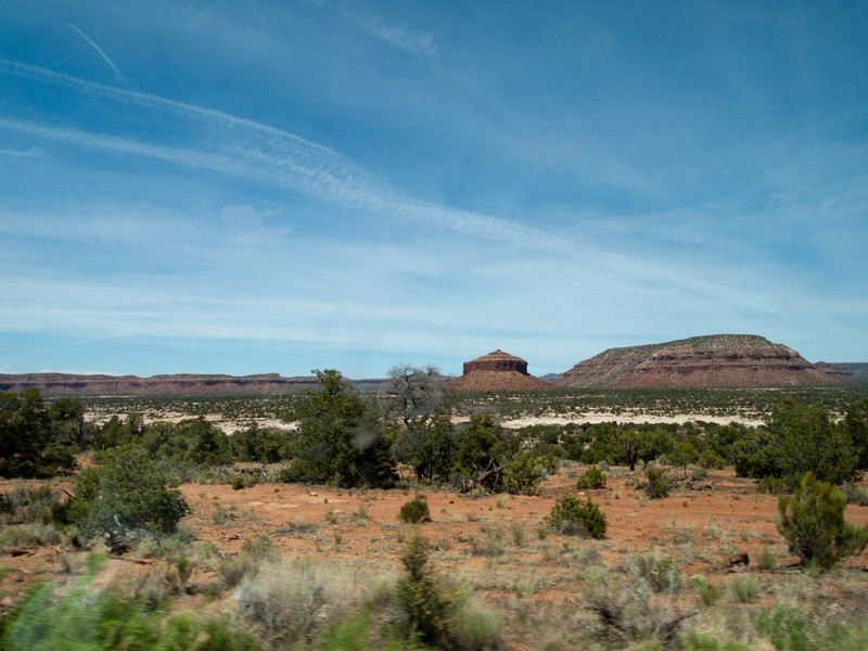 5/26 -The conical formation is called Cheesebox Butte