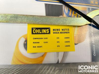 Honda RC30 Ohlins Shock (AE) on IMA