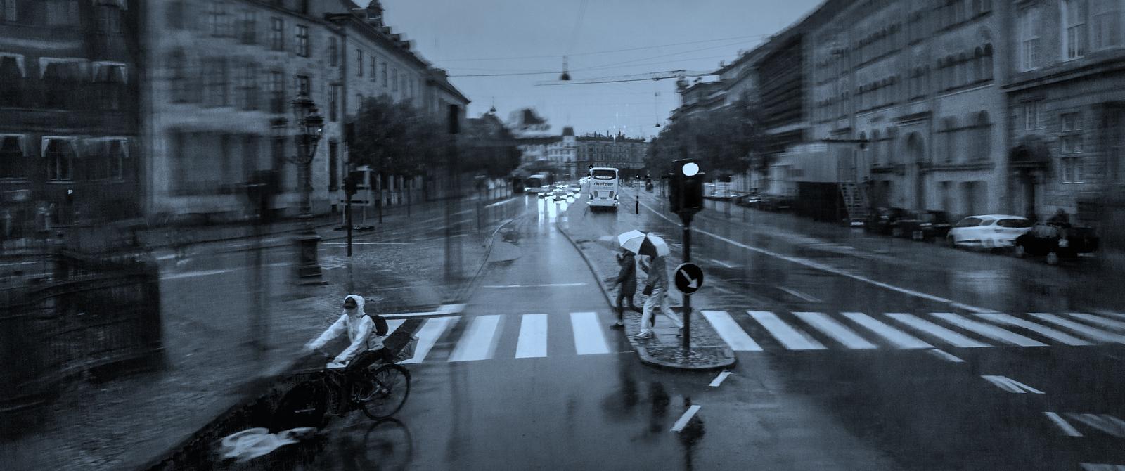 丹麦哥本哈根,雨中即景