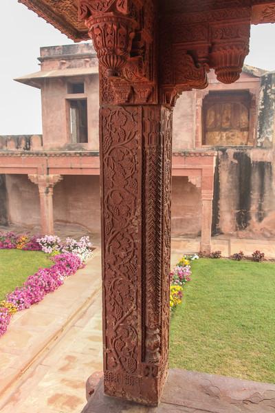 Column and gardens.