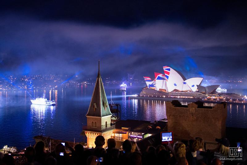 International Fleet Review Spectacular lightshow