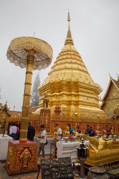 Wat Phra That Doi Suthep Temple in Chiang Mai, Thailand - December, 2017