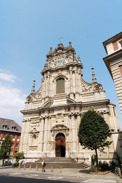 The baroque Church of Saint Michael in Louvain (Leuven), Belgium was built in the 17th Century.