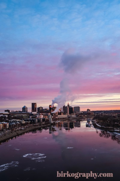 Christmas Eve sunrise.  Saint Paul, MN