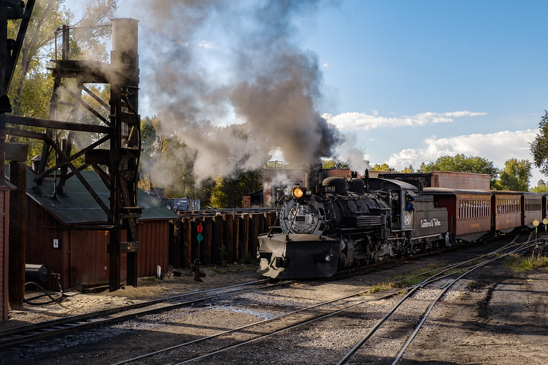 Cumbres & Toltec Scenic (Narrow Gauge) Railroad in Chama, New Mexico