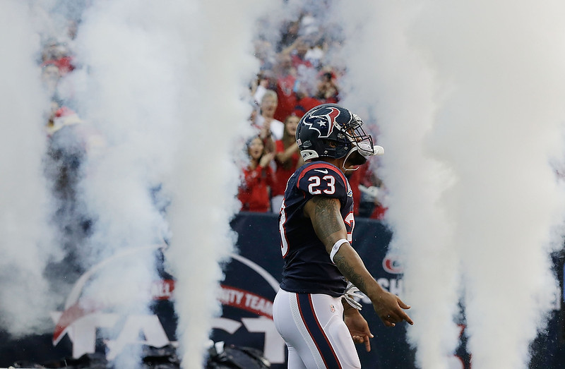 . Arian Foster #23 of the Houston Texans walks on the field during the game against the Indianapolis Colts at at Reliant Stadium on December 16, 2012 in Houston, Texas.  (Photo by Scott Halleran/Getty Images)