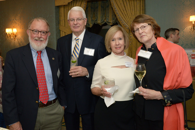 NEHGS Councilors Bob Perry,  Ginger Koster and Kate Van Demark with Bill Koster