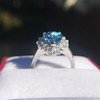 3.30ctw Aquamarine and Diamond Cluster Ring 20