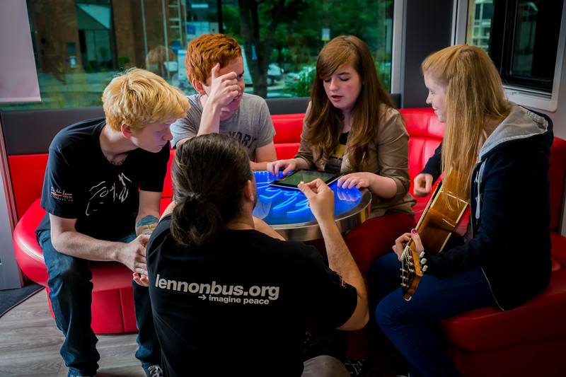 2013_08_07, Dublin, Ireland, Student Recording Session, Student Session, Music Generation, lennonbus.org, eu.lb.org, JLETB, The National Concert Hall, EU, Pietro Rossi, Apple, Gibson, Epiphone