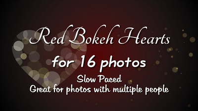 Red Bokeh Hearts for 16 Photos