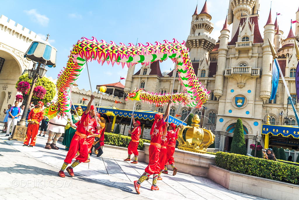 Universal Studios Singapore Park Update February 2018 Chinese New Year - Majestic Dragon Trail / Far Far Away
