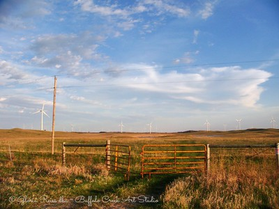Pasture Gate and Wind Farm