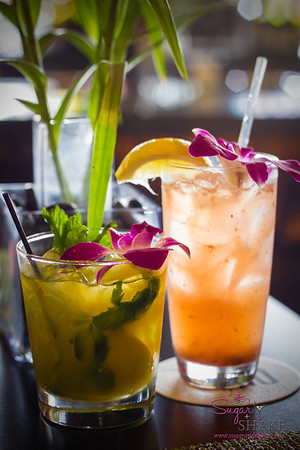 Papaya Smash (left) and a Home Grown at Kō at The Fairmont Kea Lani. © 2013 Sugar + Shake
