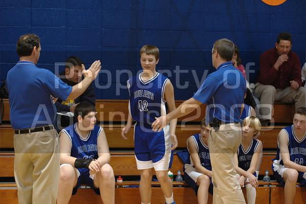 7th grade basketball 11.18.07- 11.25.07