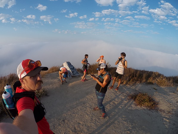 Sunshine, Marine layer, and trail therapy with great company! 08-05-2017
