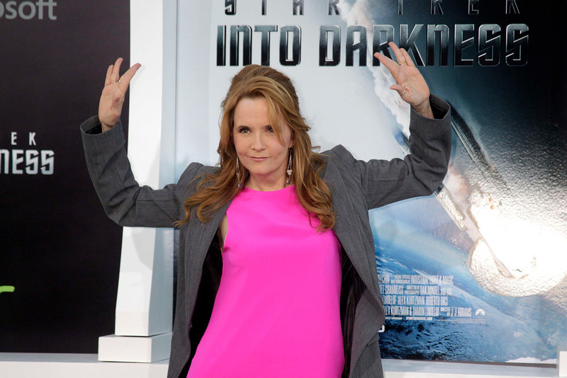 """. Actress Lea Thompson arrives as a guest at the premiere of \""""Star Trek Into Darkness\"""" in Hollywood May 14, 2013. REUTERS/Fred Prouser"""