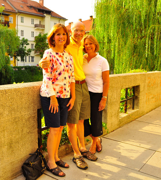 Jack and girls at Ljubljana, Slovenia