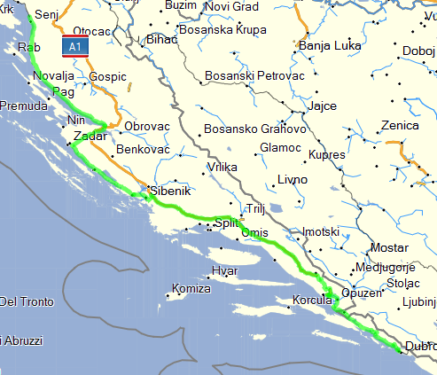 July 1st, 2013 - Dubrovnik to Senj