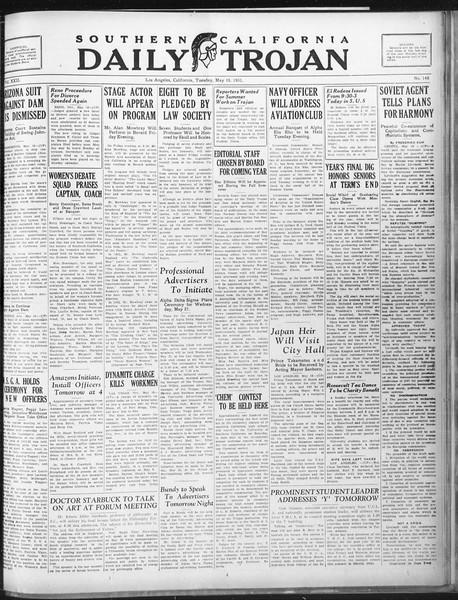 Daily Trojan, Vol. 22, No. 146, May 19, 1931