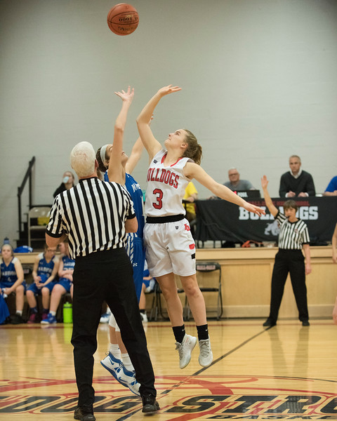 2020 Girls Varsity Basketball:  Hall-Dale vs Madison