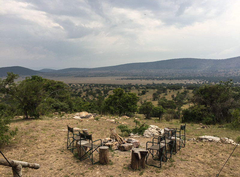 The view from Karenge Bush Camp overlooking the plains in Akagera NP