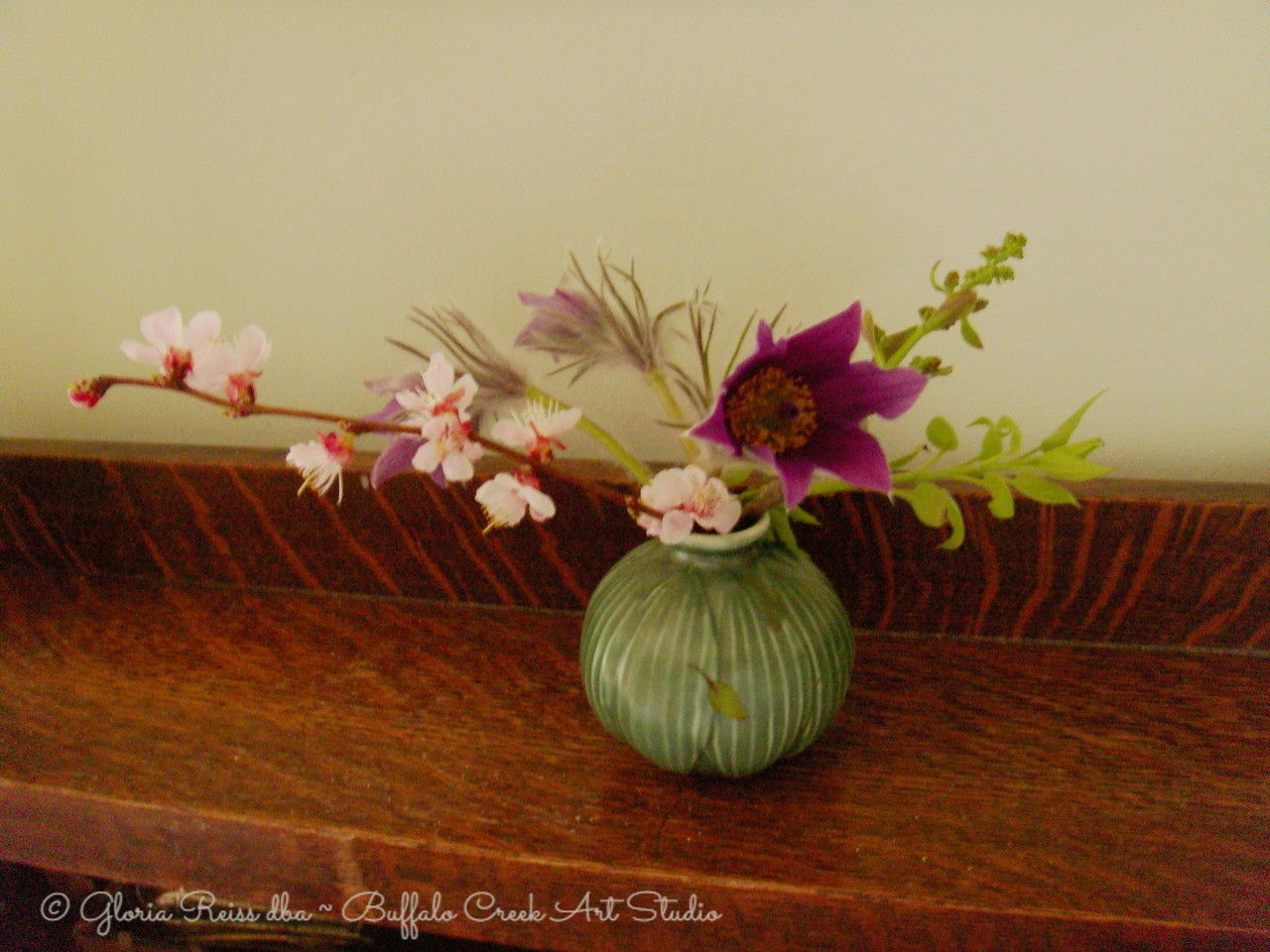 Easter Boquete, wild Crocus and Almond blossoms