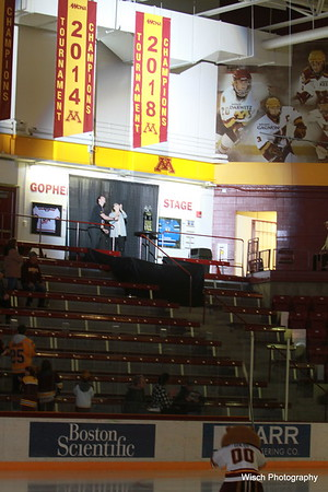 Gopher Womens Hockey Banner Raise