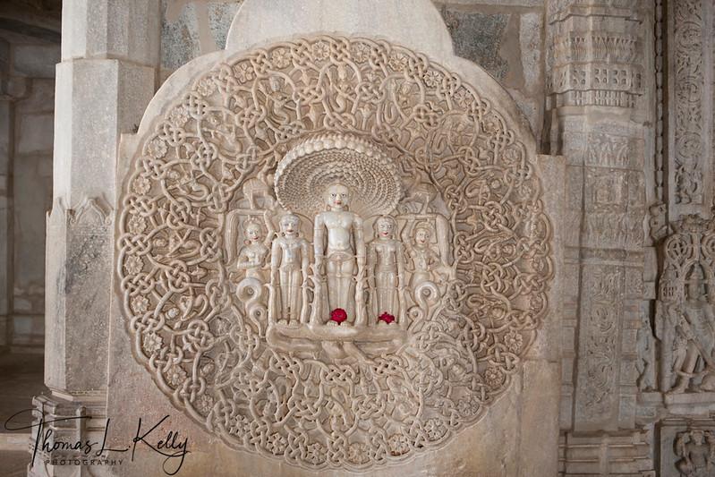 Jain temple at Ranakpur in Jodhpur. Rajasthan, India.