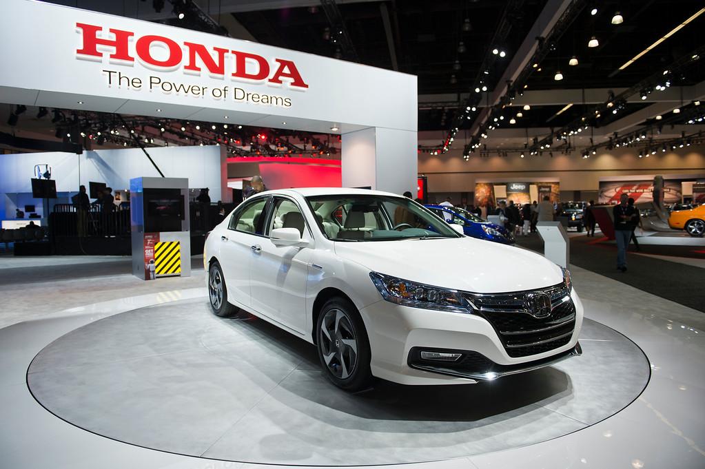 . The 2014 Honda Accord Plug-in at Los Angeles Auto Show on Wednesday, Nov. 20, 2013, in Los Angeles. (Photo by Watchara Phomicinda/San Gabriel Valley Tribune)
