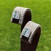 Art Deco Diamond and Emerald Disc Earrings 1