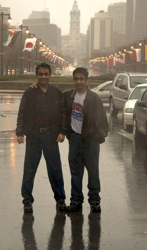 My brother Vik (on right)