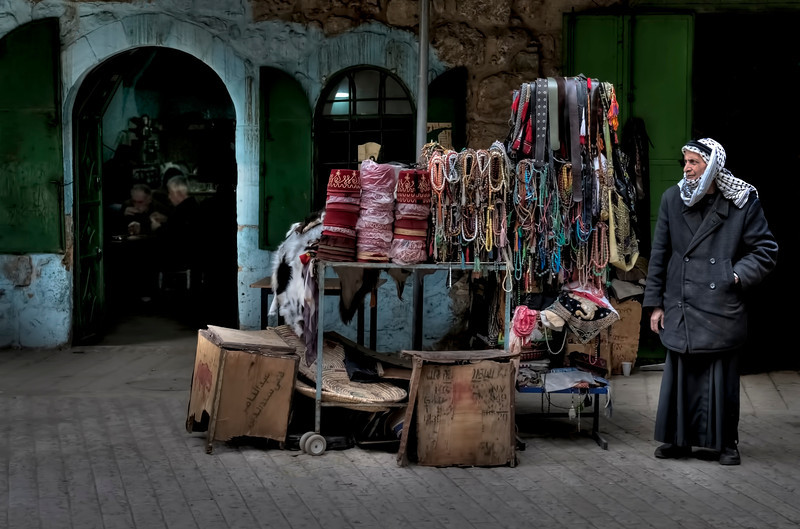 Street stall in the old city of Hebron, Palestine, 2012.