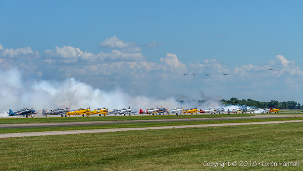 80th Anniversary Celebration of the AT6 Texan/SNJ/Harvard at AirVenture 2018!