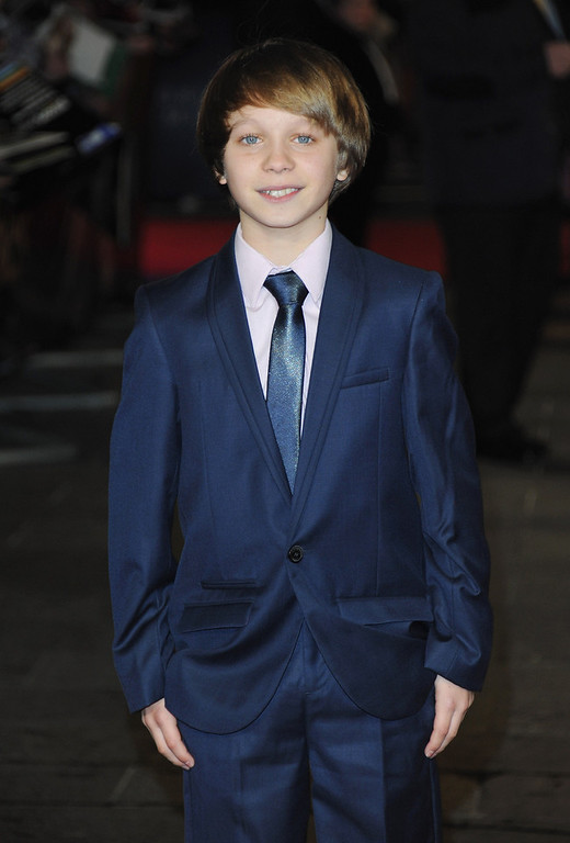 """. Daniel Huttlestone attends the \""""Les Miserables\"""" World Premiere at the Odeon Leicester Square on December 5, 2012 in London, England.  (Photo by Stuart Wilson/Getty Images)"""