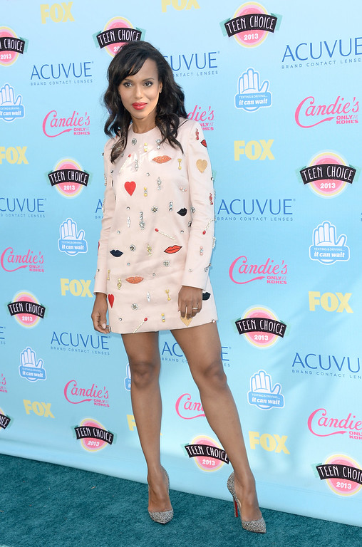 . Actress Kerry Washington attends the Teen Choice Awards 2013 at Gibson Amphitheatre on August 11, 2013 in Universal City, California.  (Photo by Jason Merritt/Getty Images)