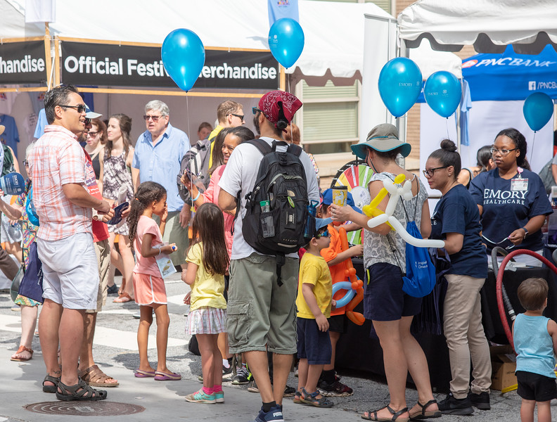 It can really get crowded at the Annual Decatur Book Festival; something for everyone.
