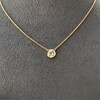 1.02ct Antique Heart Diamond Bezel Pendant 19