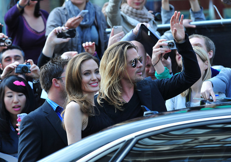 . Angelina Jolie and Brad Pitt arrive at the World Premiere of \'World War Z\' at the Empire Cinema in London on Sunday June 2nd, 2013. (Photo by Jon Furniss/Invision/AP Images)