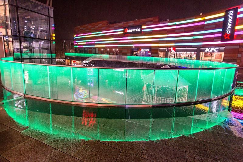 Friars Walk Shopping Centre at night