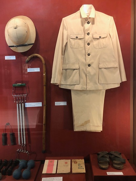 Personal effects of Ho Chi Minh at Ho Chi Minh Museum