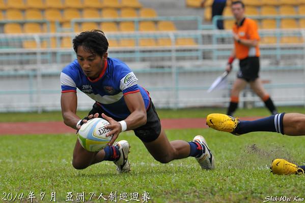 2014亞巡賽七人制馬來西亞站碗級準決賽-台灣 VS 菲律賓(TWN vsPHL)