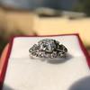 1.18ctw Art Deco Princess Halo Ring 12