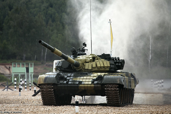 Russian internal qualification for the final of Tank biathlon 2014